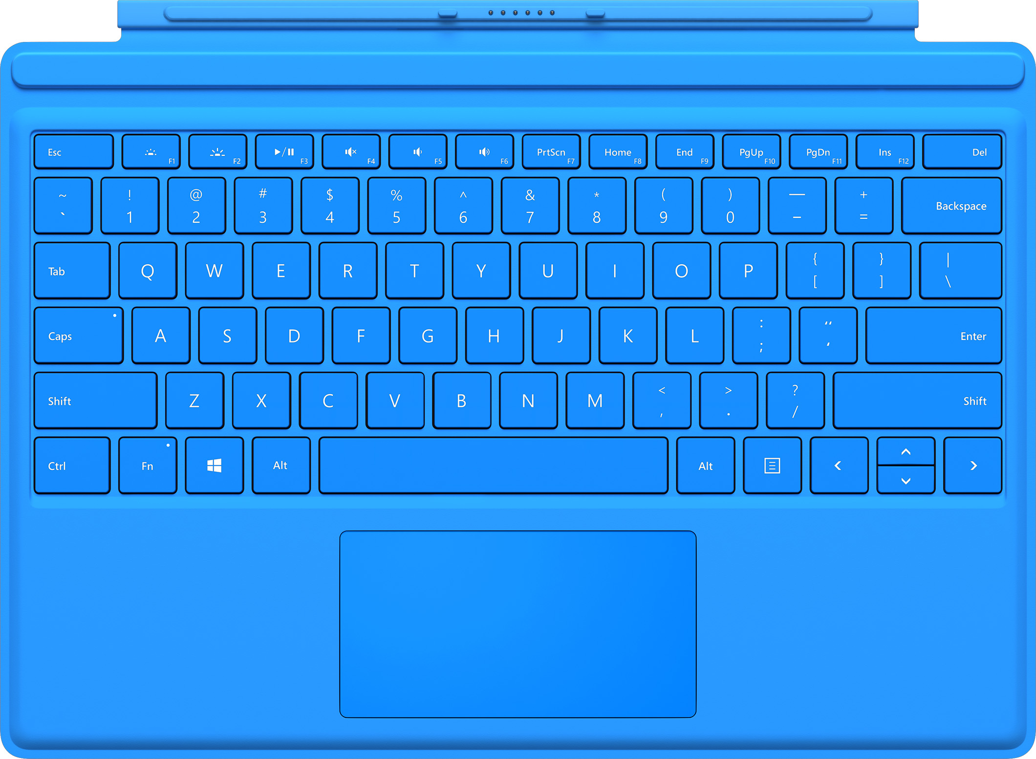 Microsoft Surface Pro 4 Type Cover (Bright Blue - English)