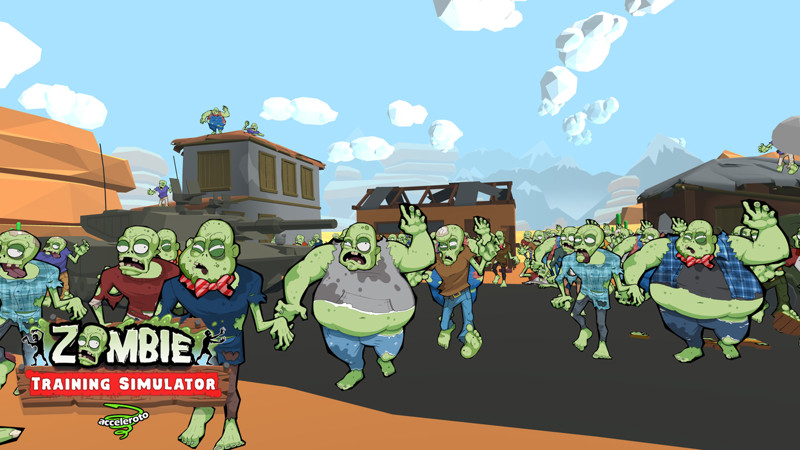 Zombie training simulator game screen