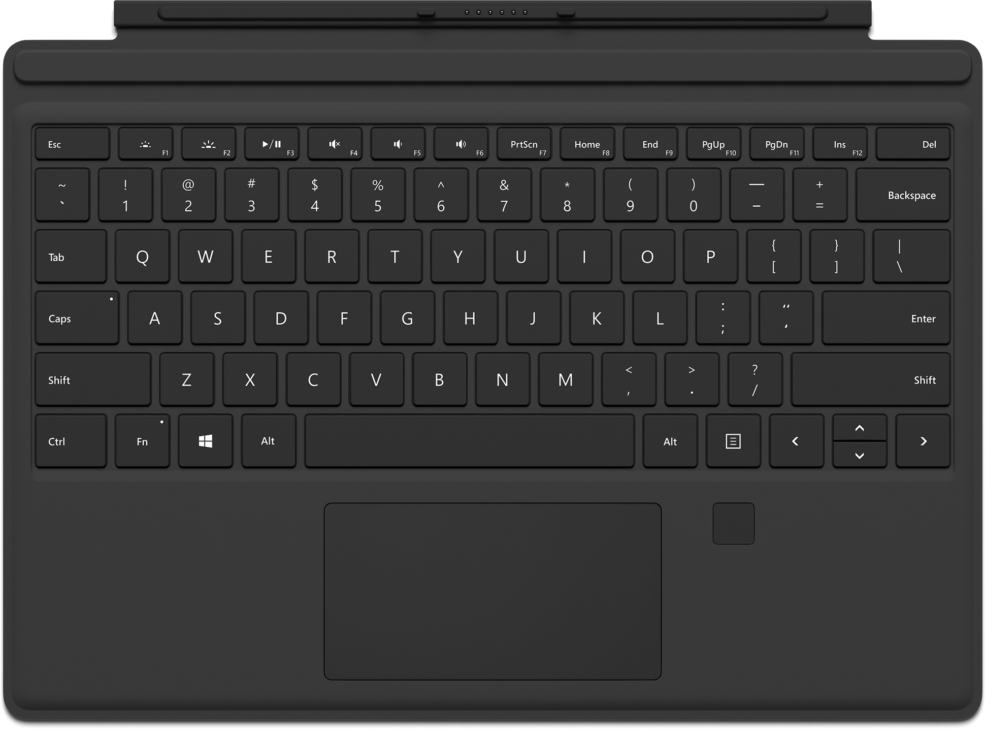 Surface Pro 4 Type Cover mit Fingerabdruck-ID (Onyx)