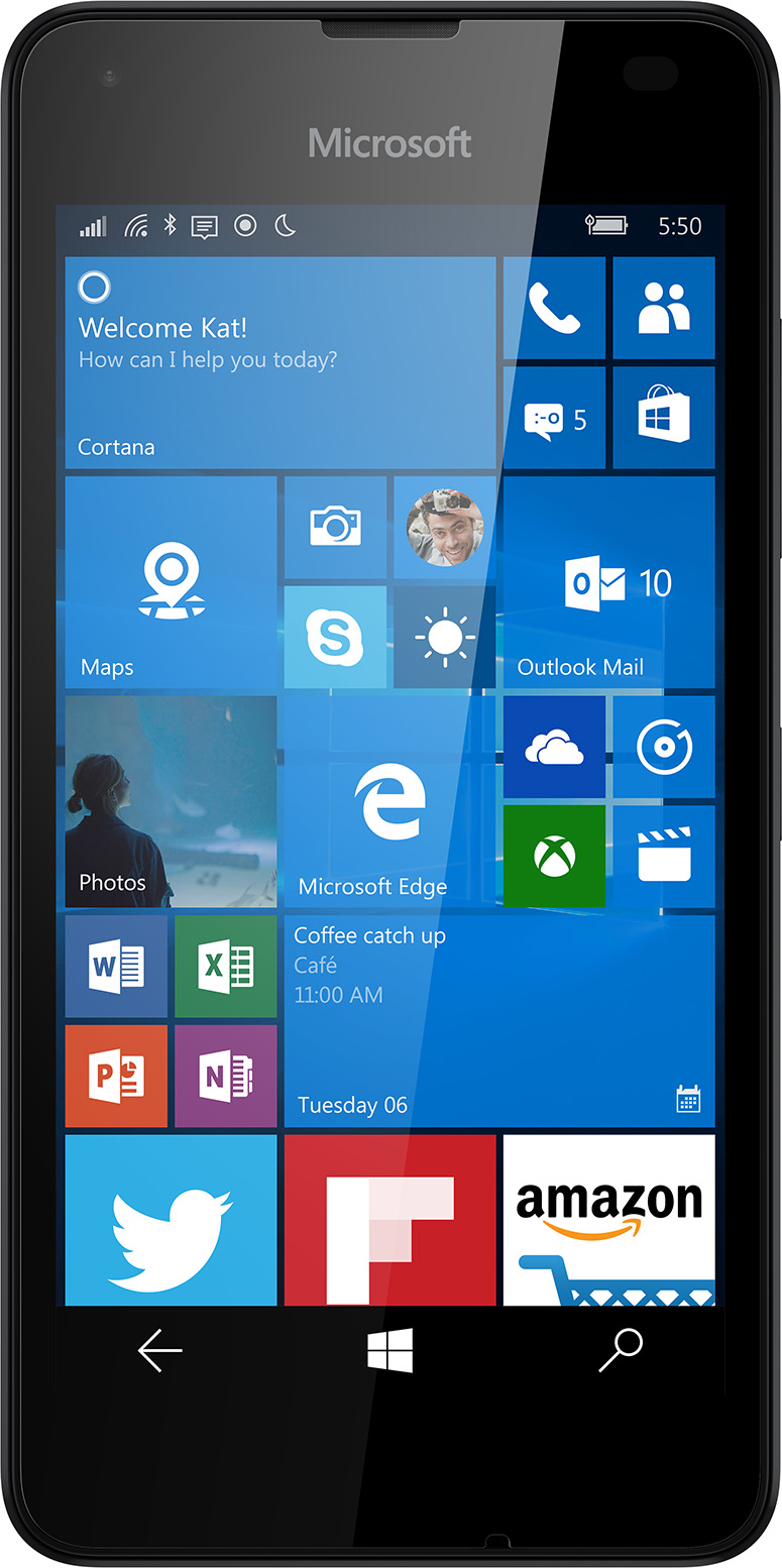 Microsoft Lumia 550 – Unlocked (Black)