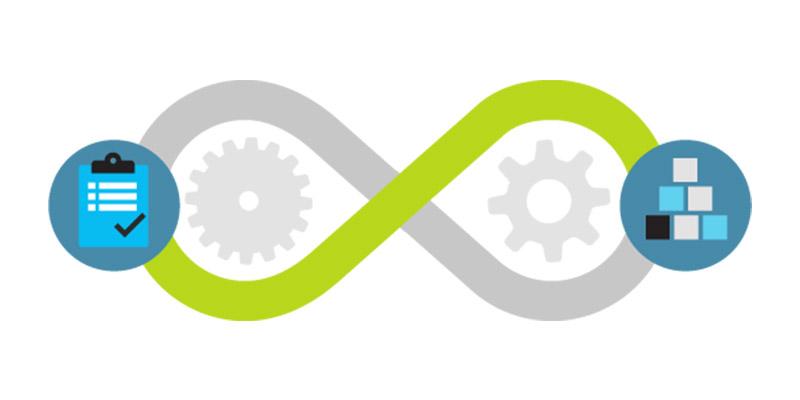 Graphic with Visual Studio iconography