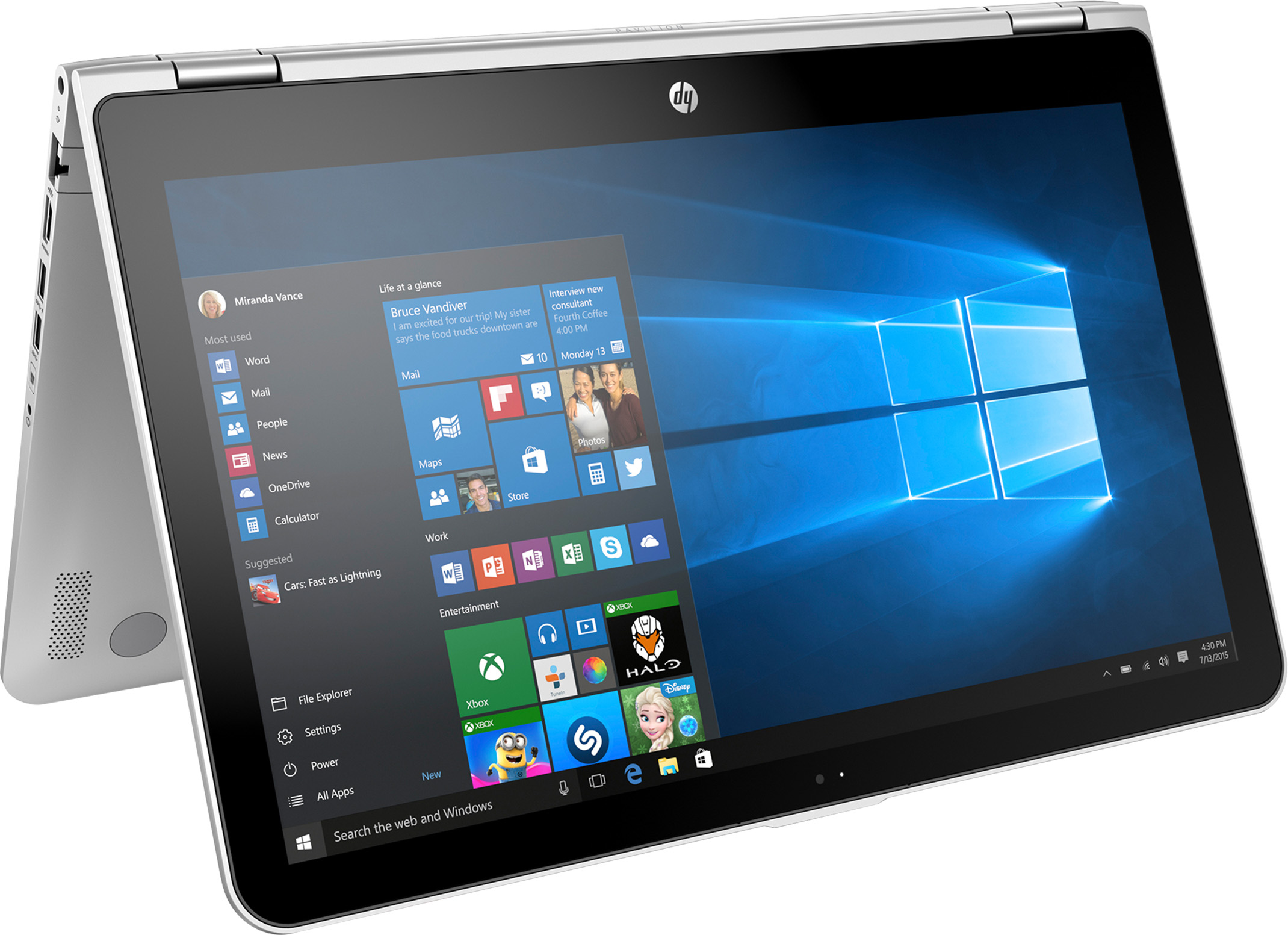 hp pavilion x360 convertible 15bk193ms signature edition 2 in 1 pc