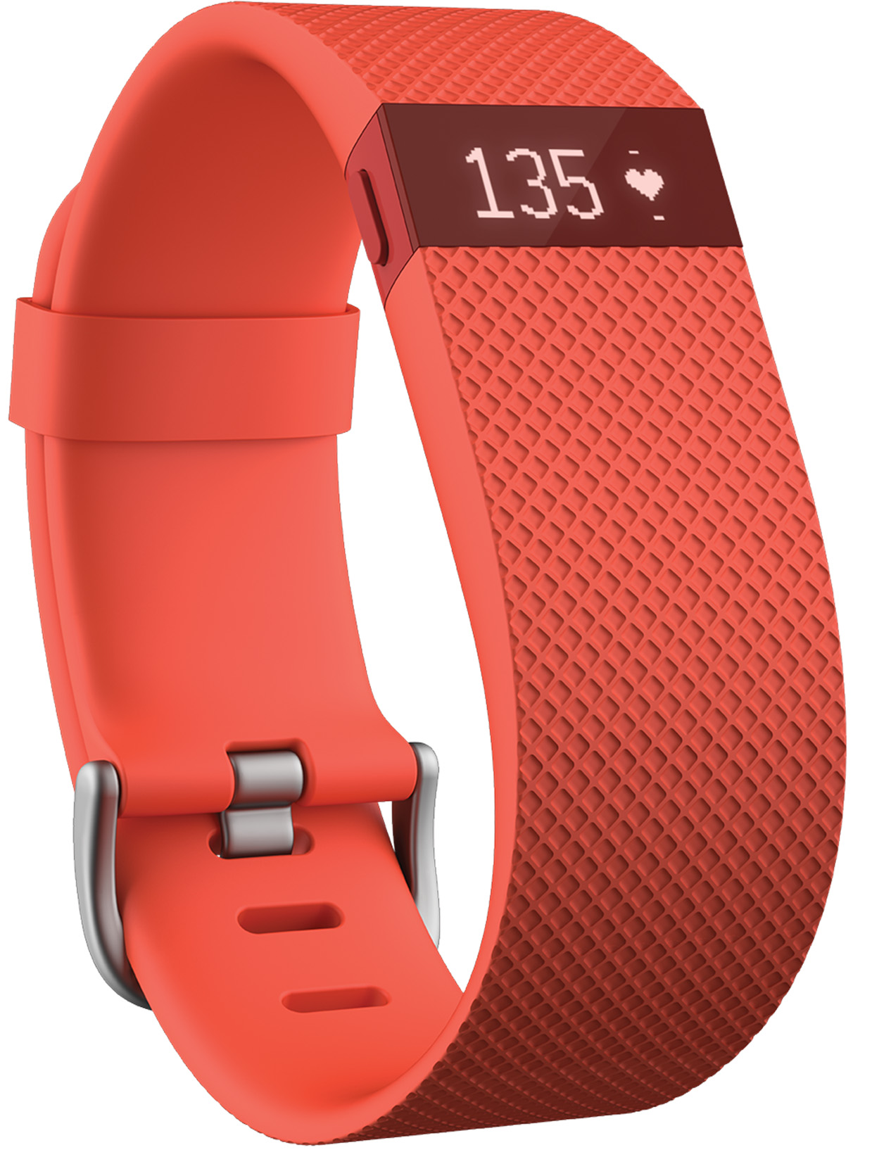 Fitbit Charge HR Heart Rate + Activity Wristband (Tangerine)