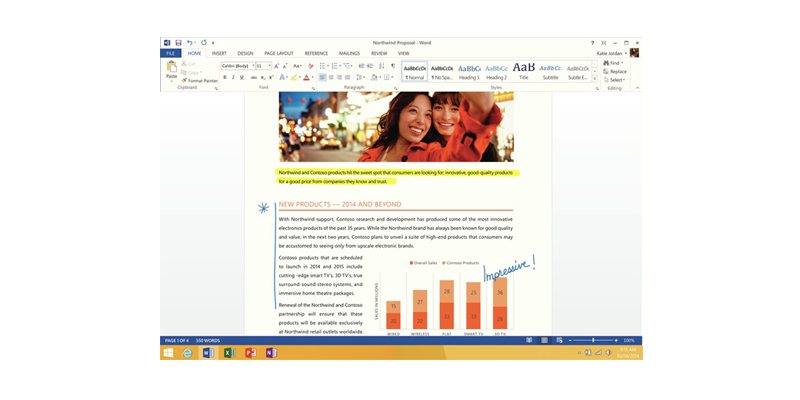 Word with document.