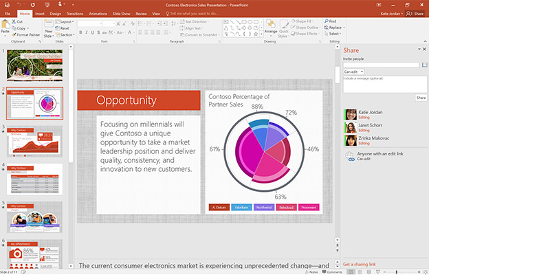 Screen shot of PowerPoint