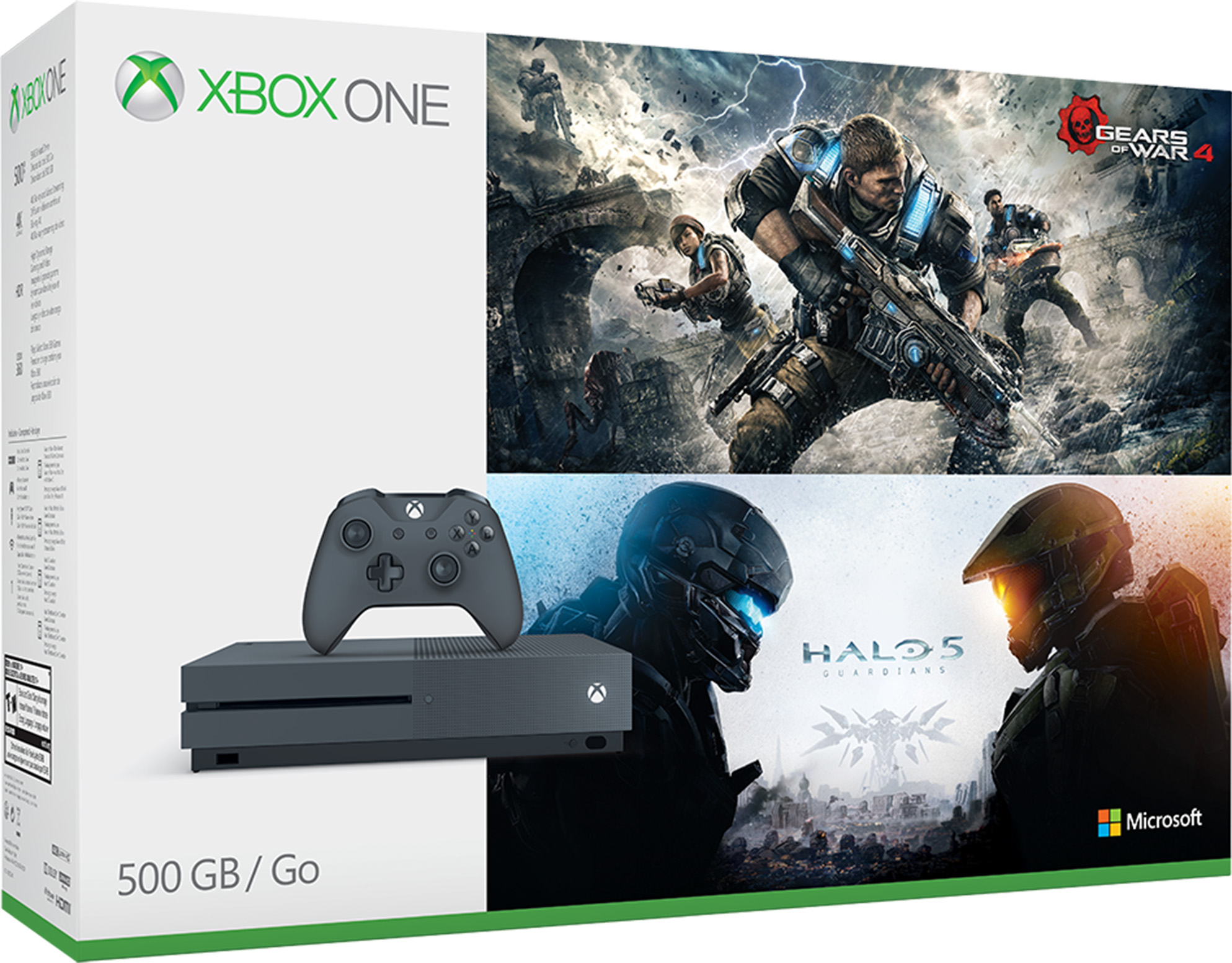 Xbox One S 500GB Console - Gears and Halo Special Edition Bundle