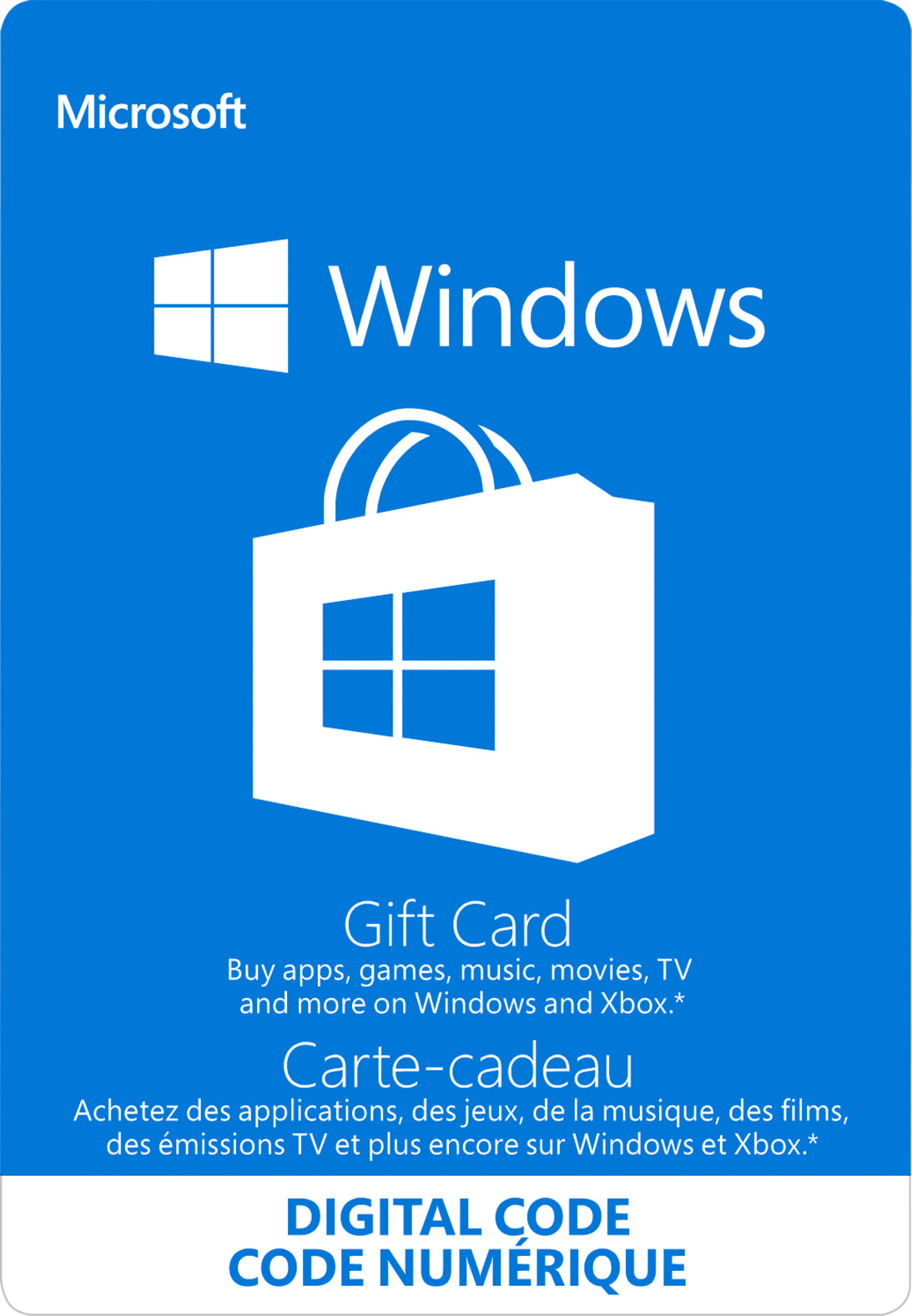Windows Store Digital Gift Card