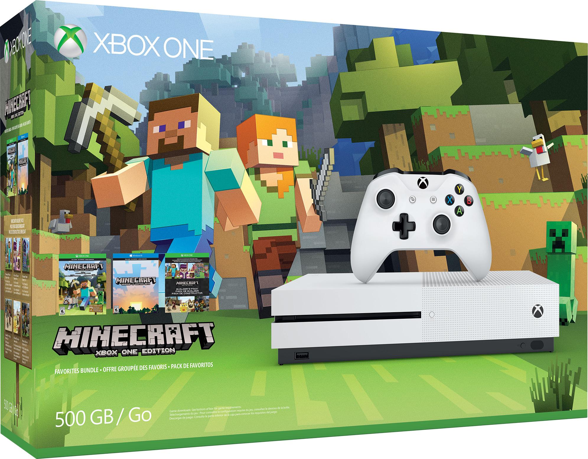 Xbox One S Minecraft Favorites Bundel (500 GB)