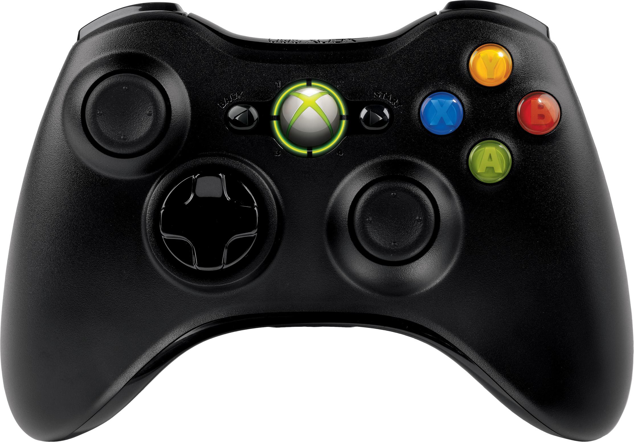 Manette sans fil Xbox360 (noire)