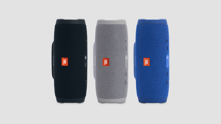 """JBL speakers in black 
