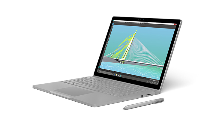 Surface book angled to the left | Surface Book en angle vers la gauche