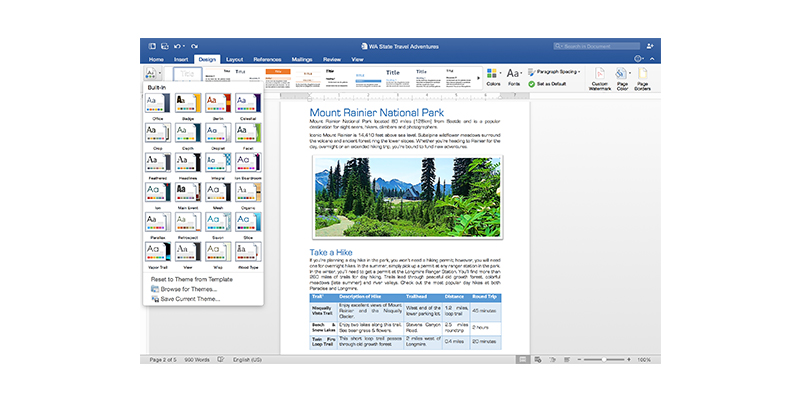 A screenshot of Word