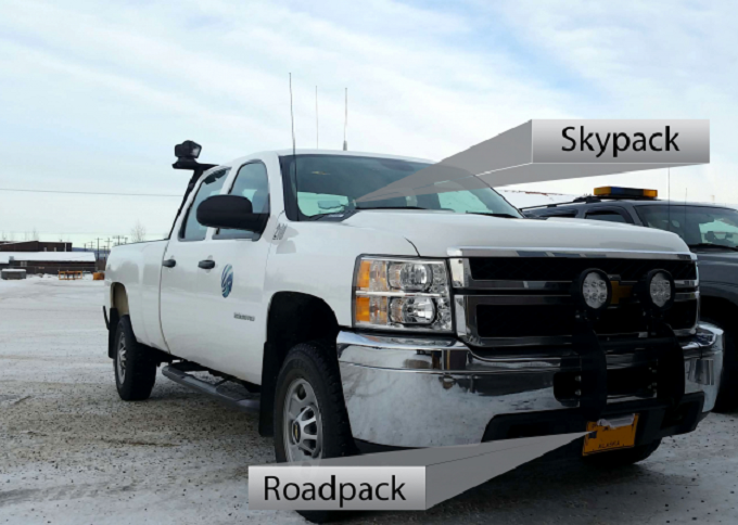 Truck with WeatherCloud sensors.