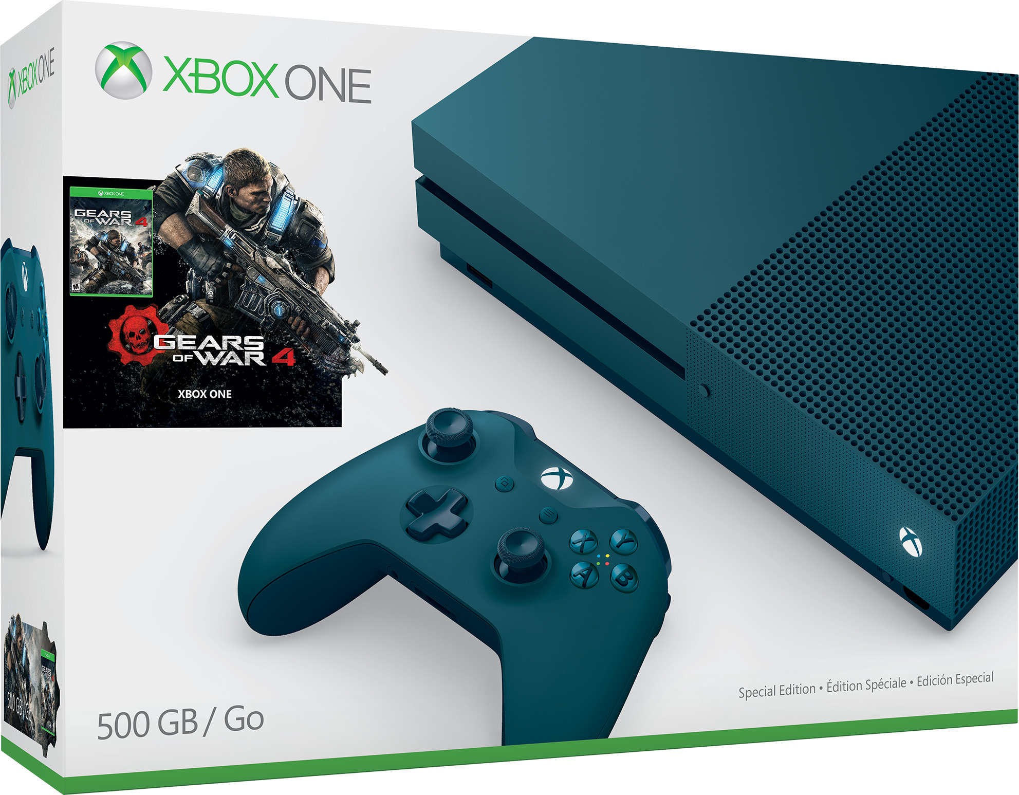 Xbox One S Gears of War 4 Special Edition Bundle (500GB)