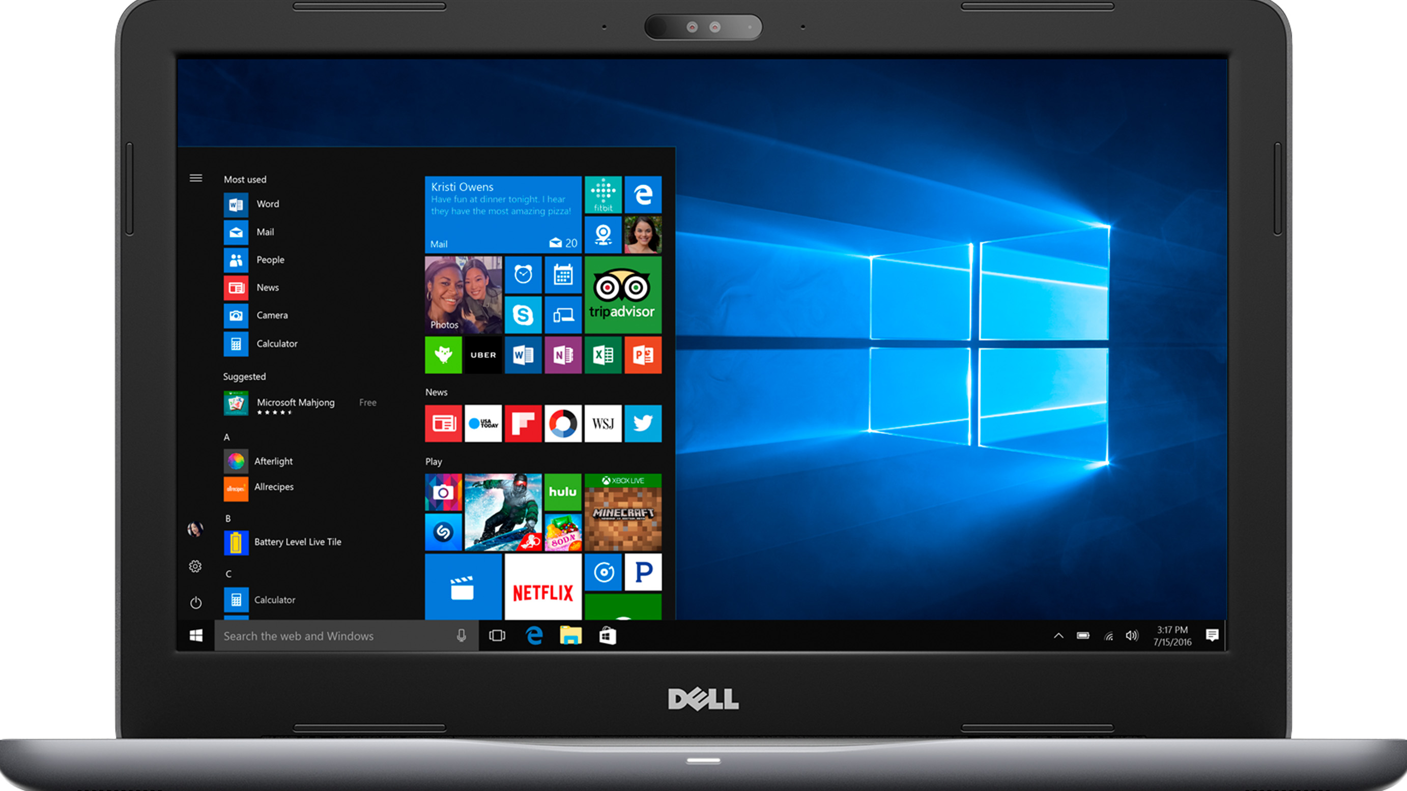 Dell Inspiron 15 5000 Series i5565-A000GRY-PUS Laptop Front View
