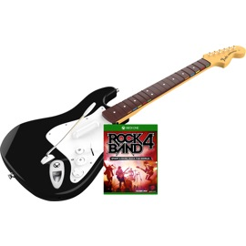 Image of Rock Band 4 Guitar Bundle for Xbox One with the wireless Fender Stratocaster guitar controller