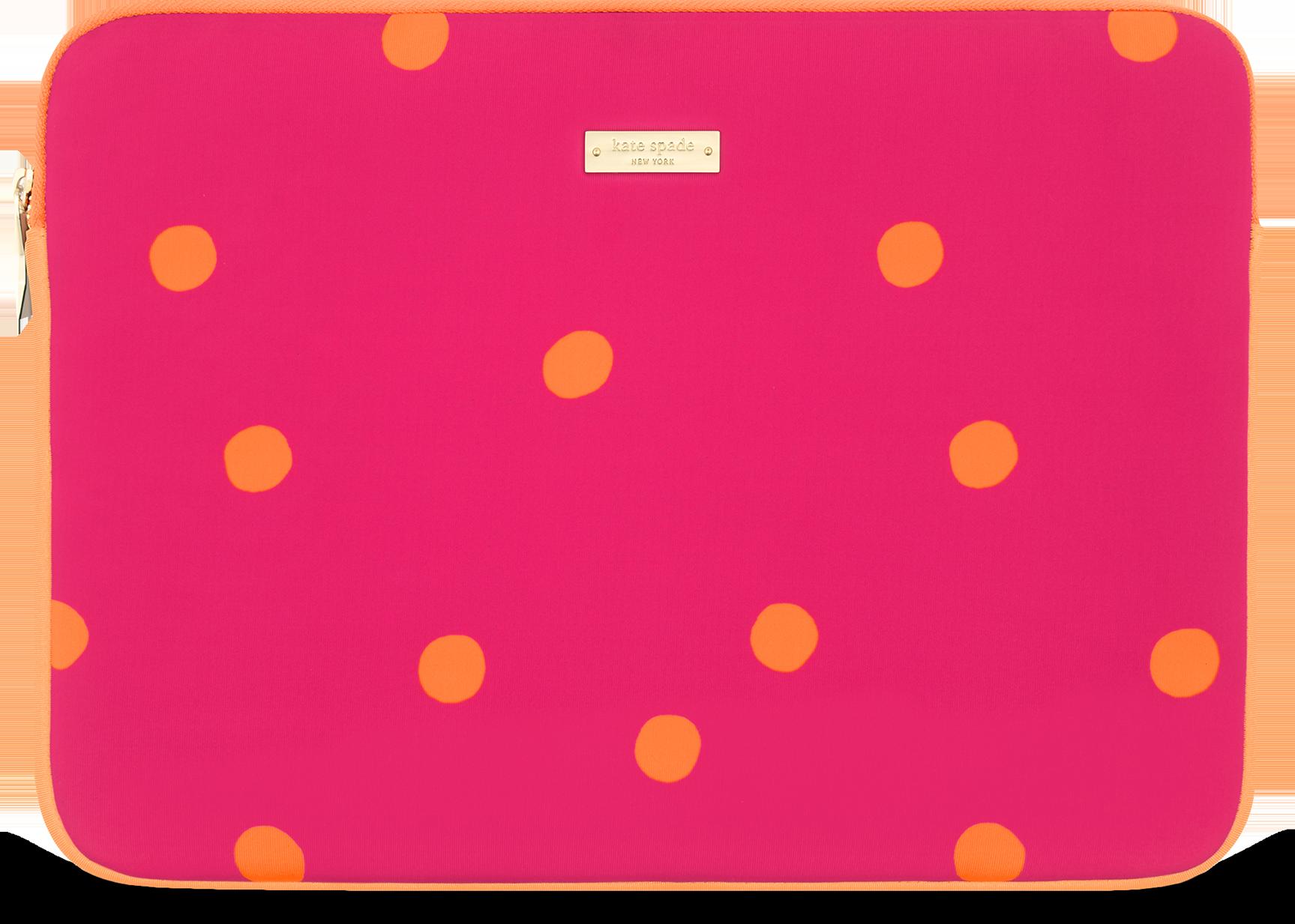 Kate Spade Neoprene Sleeve for Surface Pro 4 (Dots Pink/Orange)