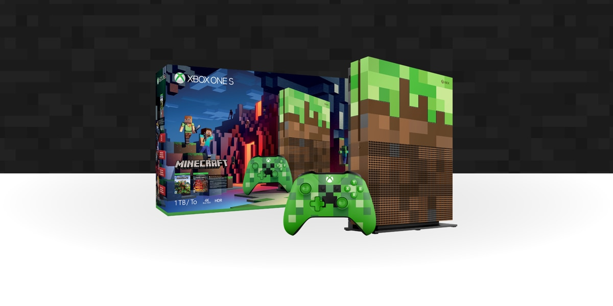 Xbox one s minecraft limited edition bundle 1tb microsoft minecraft special edition console and bundle box freerunsca Images