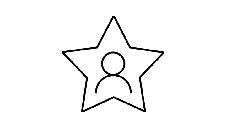 Icon of a person in a star