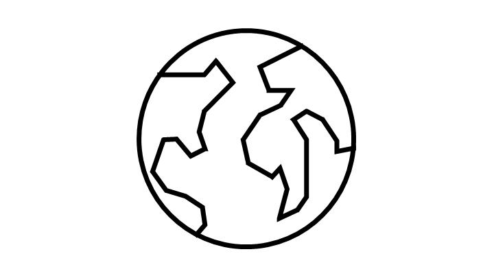 Glyph of a globe