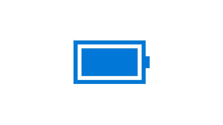 Bild på ett fulladdat batteri
