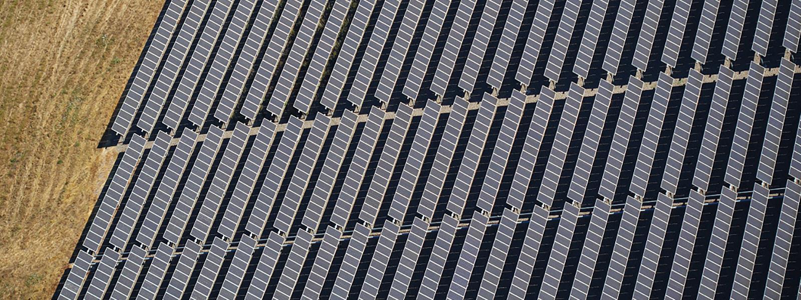 A massive array of solar panels.