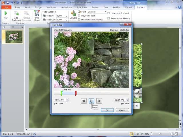 Recortar un clip de vídeo, música o sonido en PowerPoint - Soporte ...