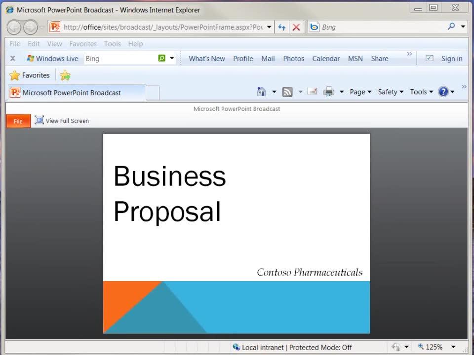 リモートの参加者にプレゼンテーションをブロードキャストする powerpoint