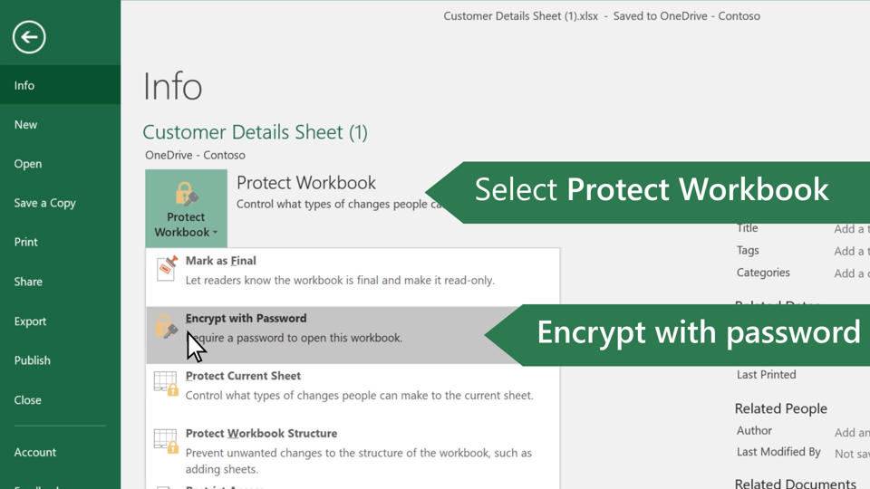 Protect an excel file office support ibookread Read Online