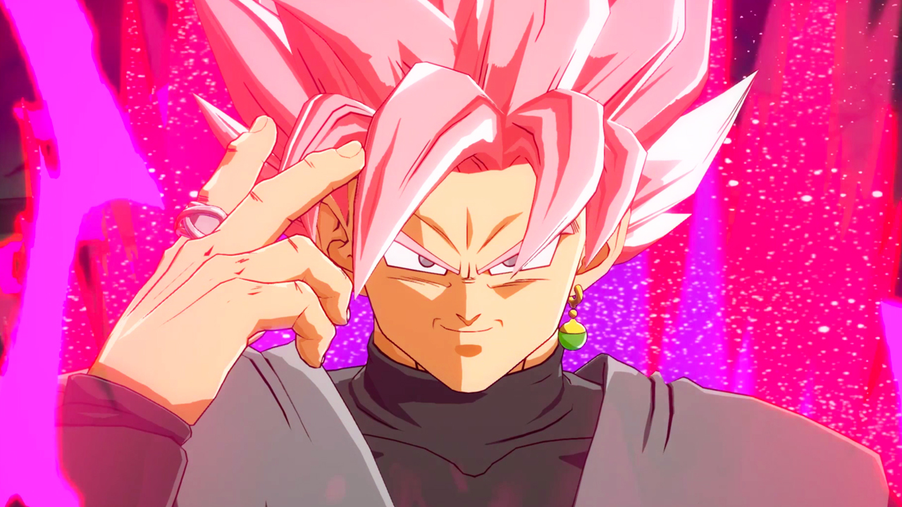 Play front view of goku black