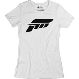 A white shirt with a forza logo