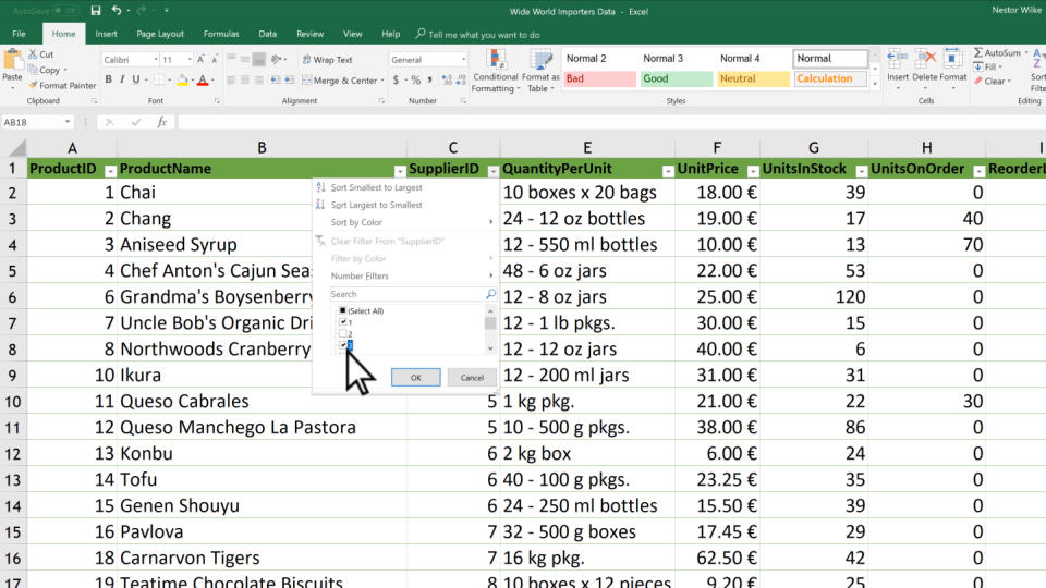 Filter Data In A Range Or Table Excel