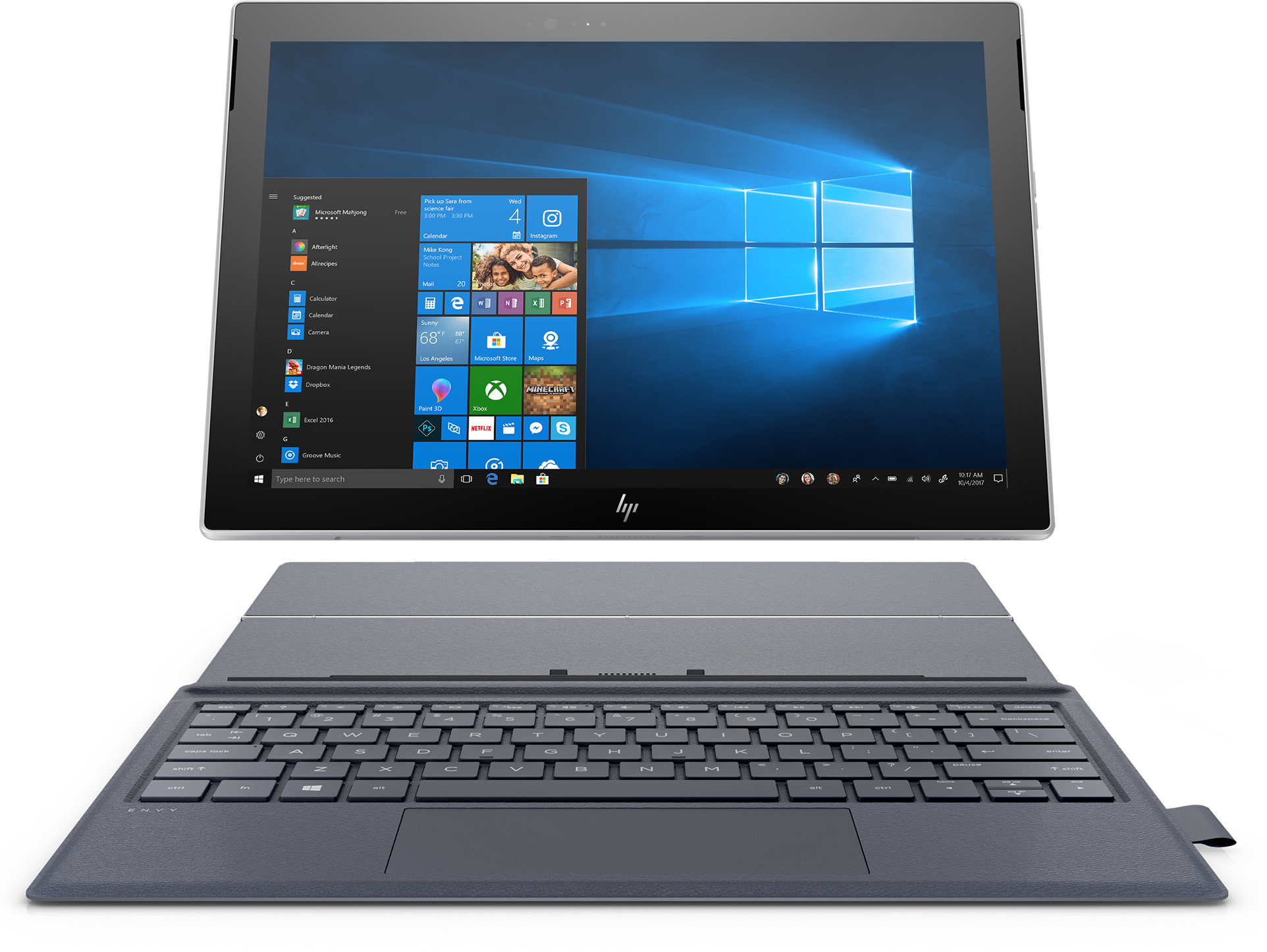 HP Envy PC with a detached keyboard