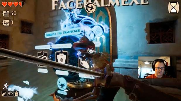 Screenshot of gameplay from Descenders