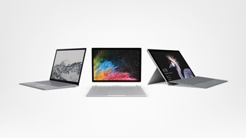Surface Laptop, Surface Book 2, Surface Pro