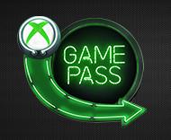 Xbox game pass logo on dark background