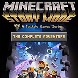 Minecraft: Story Mode - The Completel Adventure, a brick wall broken open to reveal Minecraft characters