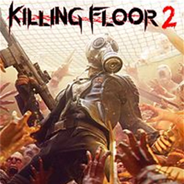Killing Floor 2, Mr. Foster holding a weapon while completely surrounded by zombies