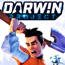 Darwin Project, main character holding an axe over his head