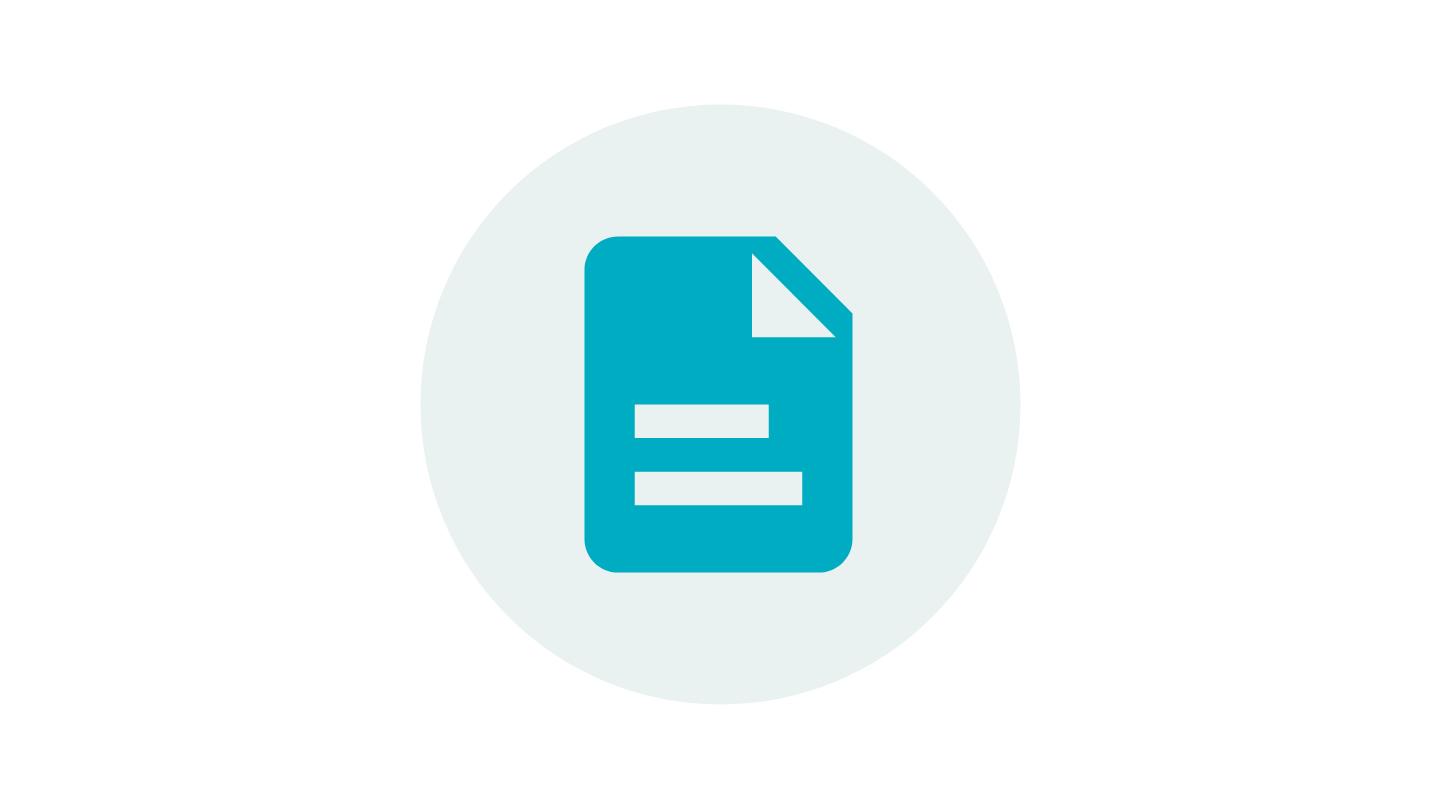 Symbol of a paper document