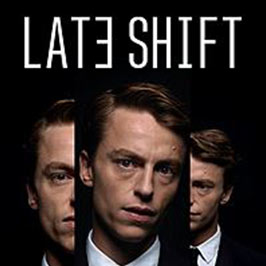 Late Shift, tri-split image of main character Matt