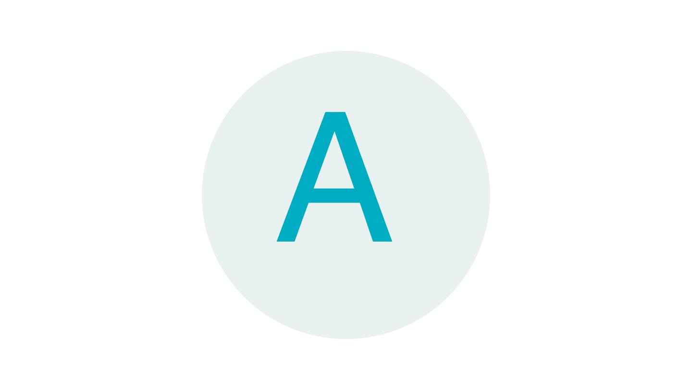 "Handwritten letter ""A"" in cursive"