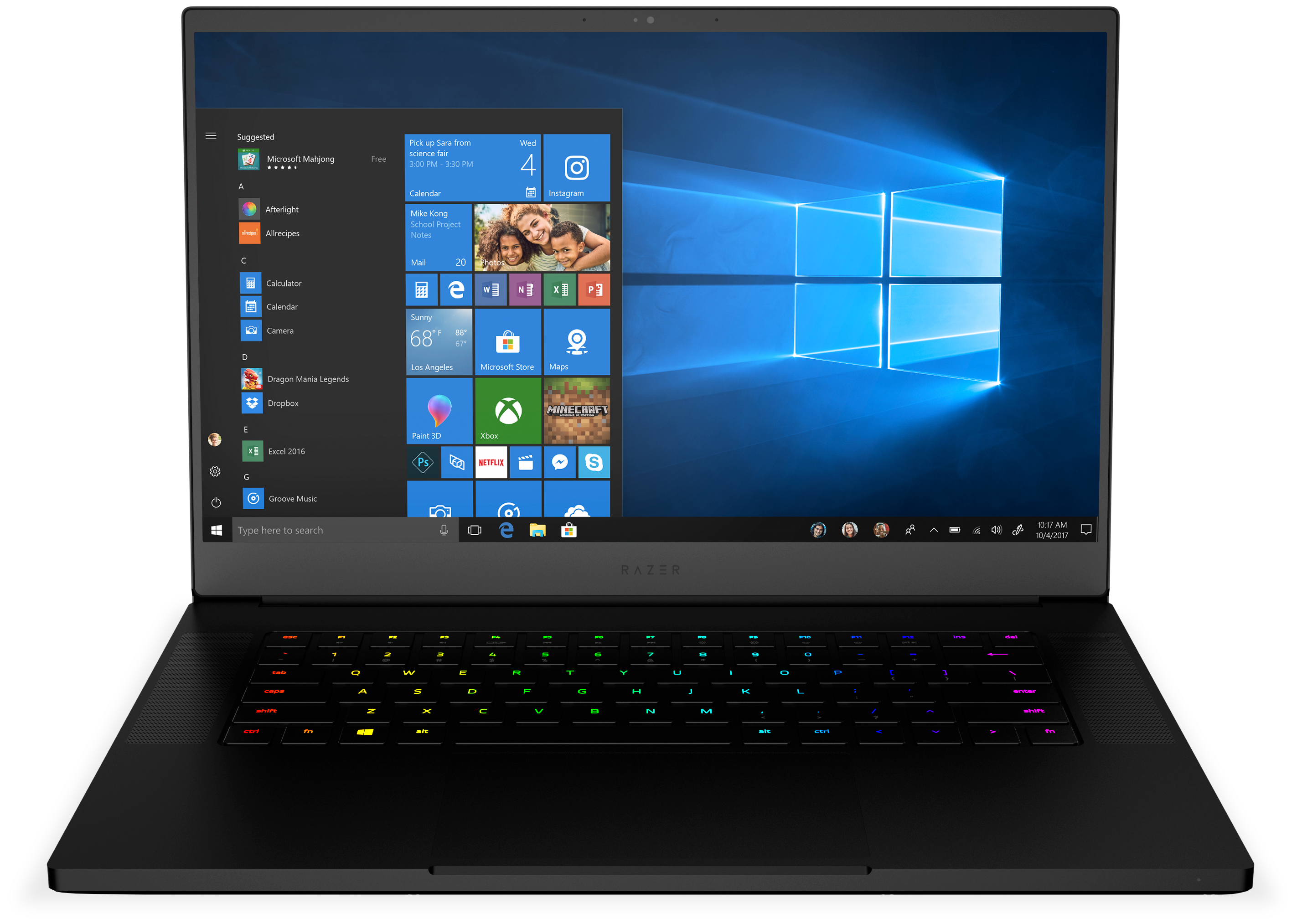 Razer Blade Gaming Laptop from the front