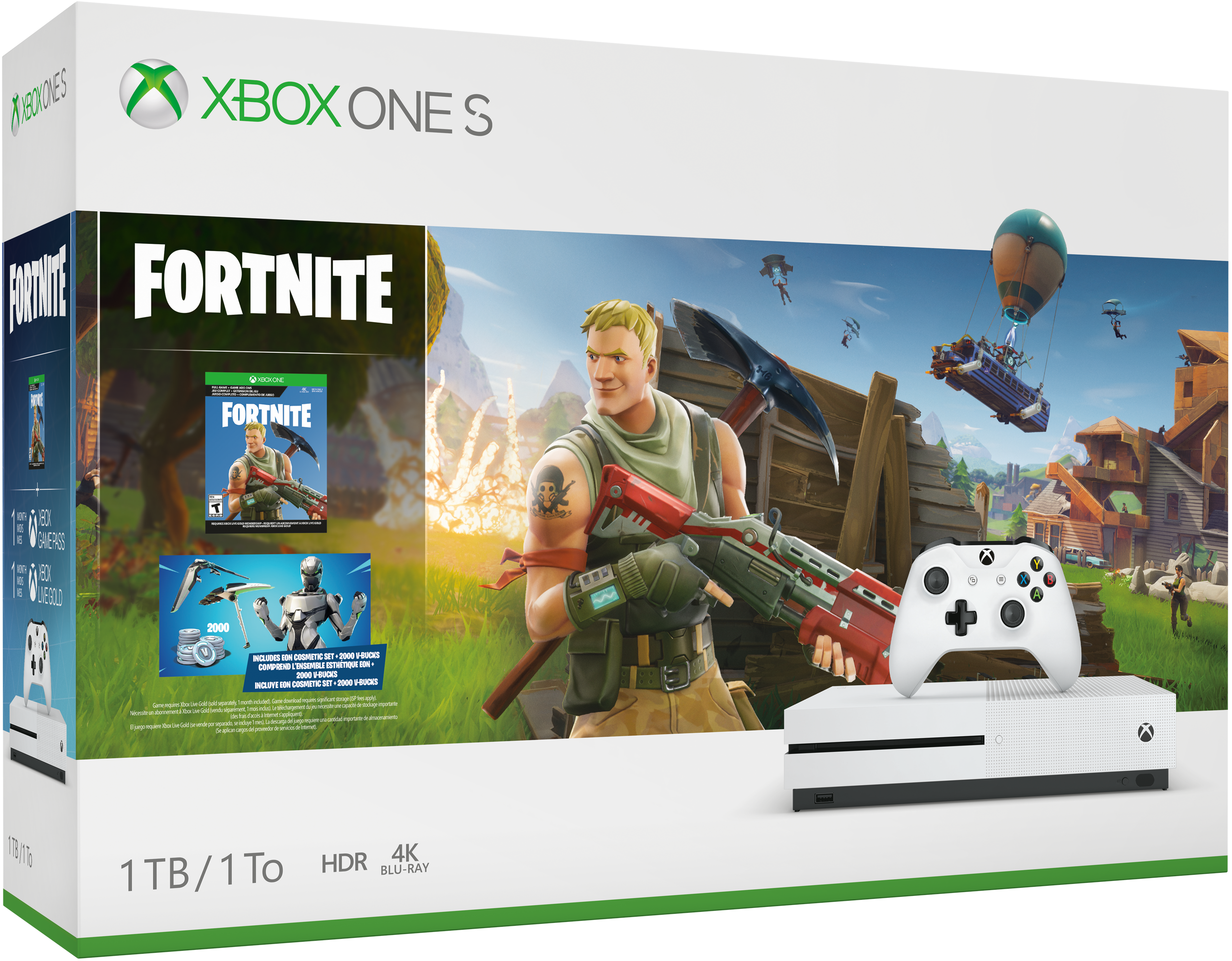 Buy Xbox One S 1TB Console – Fortnite Battle Royale Bundle - Microsoft Store