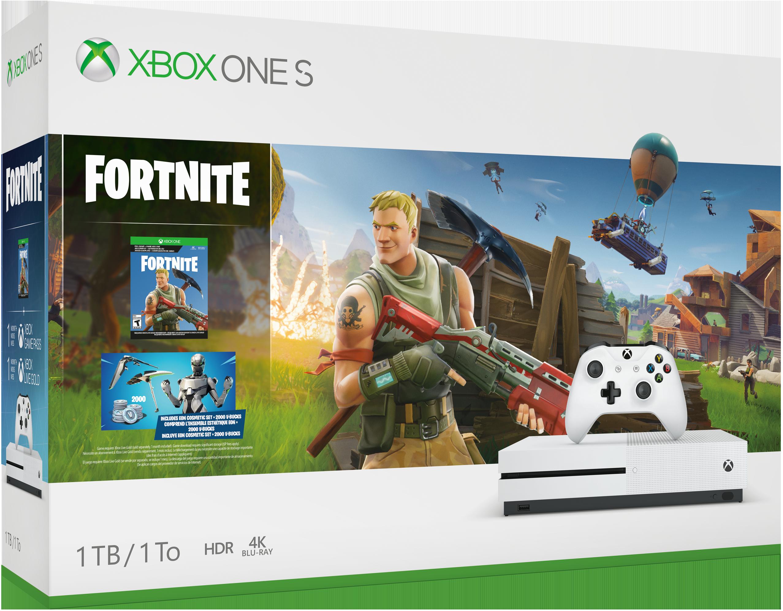 Xbox One S Fortnite Bundle box art
