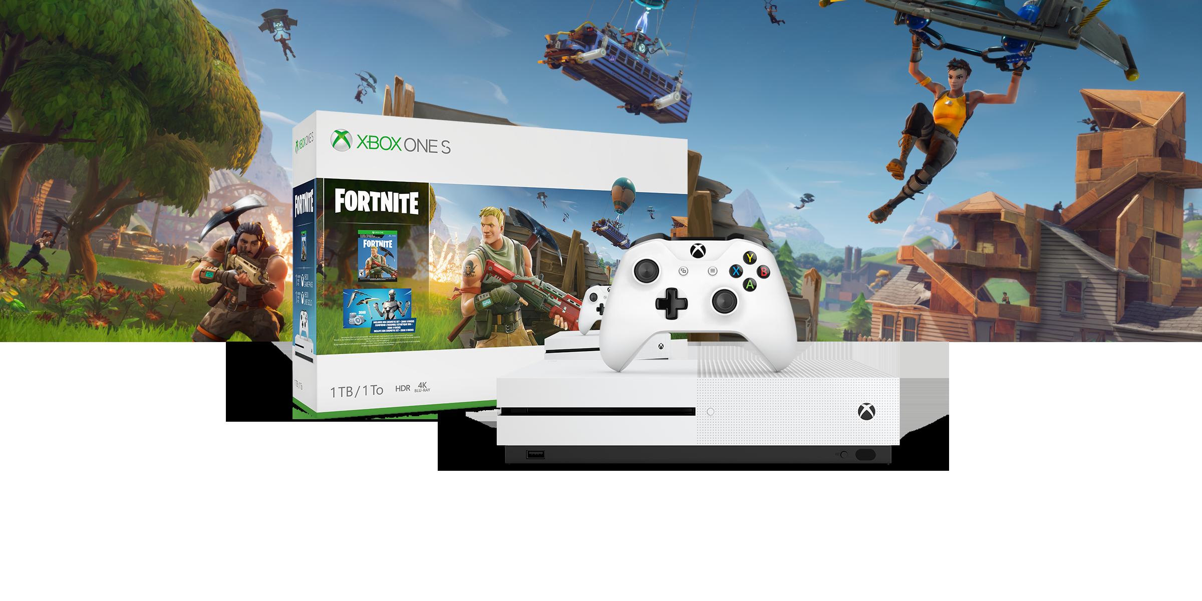 Xbox One S-console voor een hardwarebundel met Battlefield V-kunst