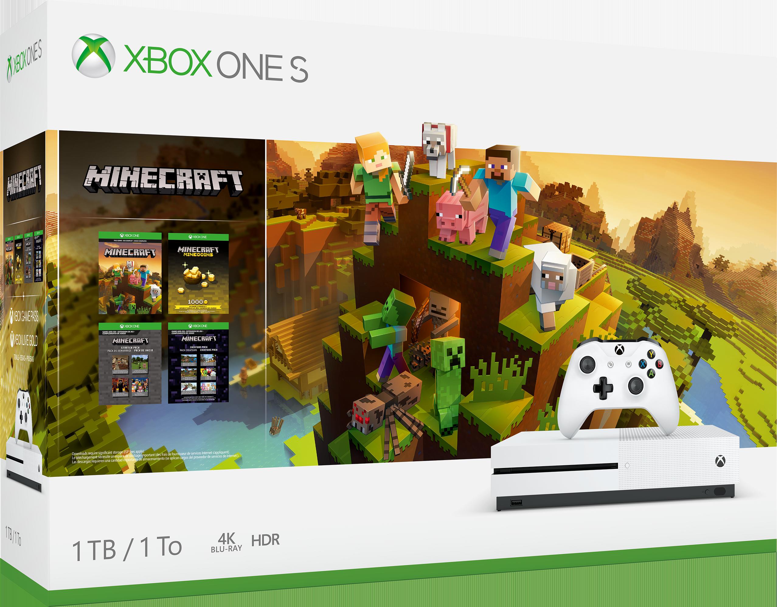 Image of Console Xbox One S da 1TB: pacchetto Creators di Minecraft