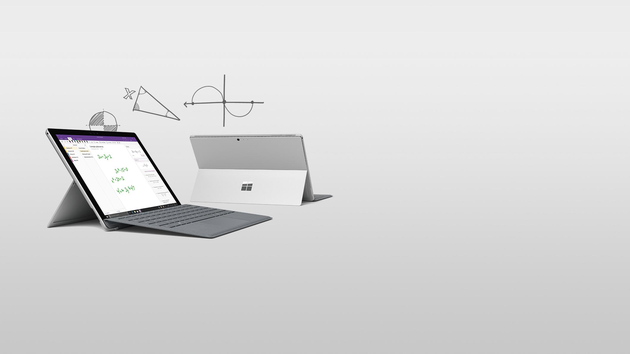 Deux Surface Pro avec différents angles de vue