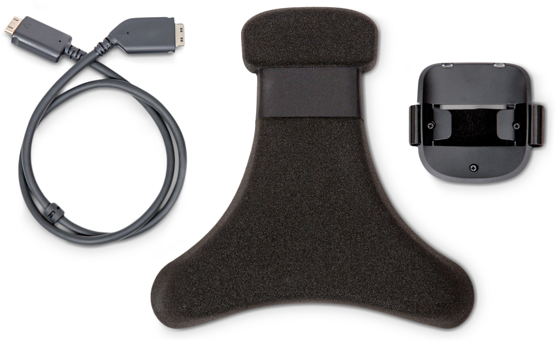 VIVE Pro HTC Wireless Adapter Attachment Kit includes a Cable, a Cradle and a Pad Cushion