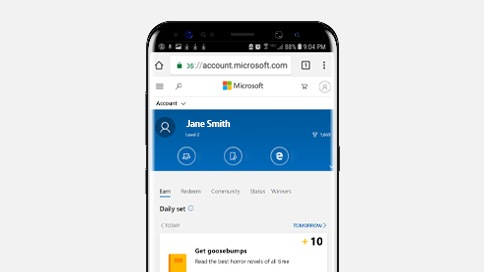 Set Bing as your default mobile search engine
